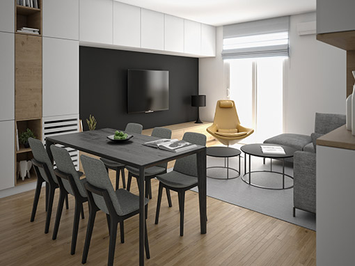 INTERIOR DESIGN OF LIVING ZONE IN LANIŠTE